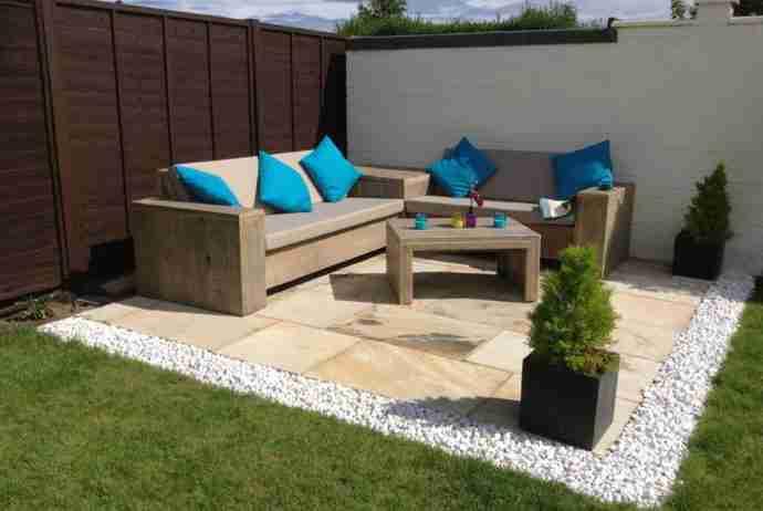 welke steigerhouten meubels zijn makkelijk te maken? Loungebankkussens zelf maken