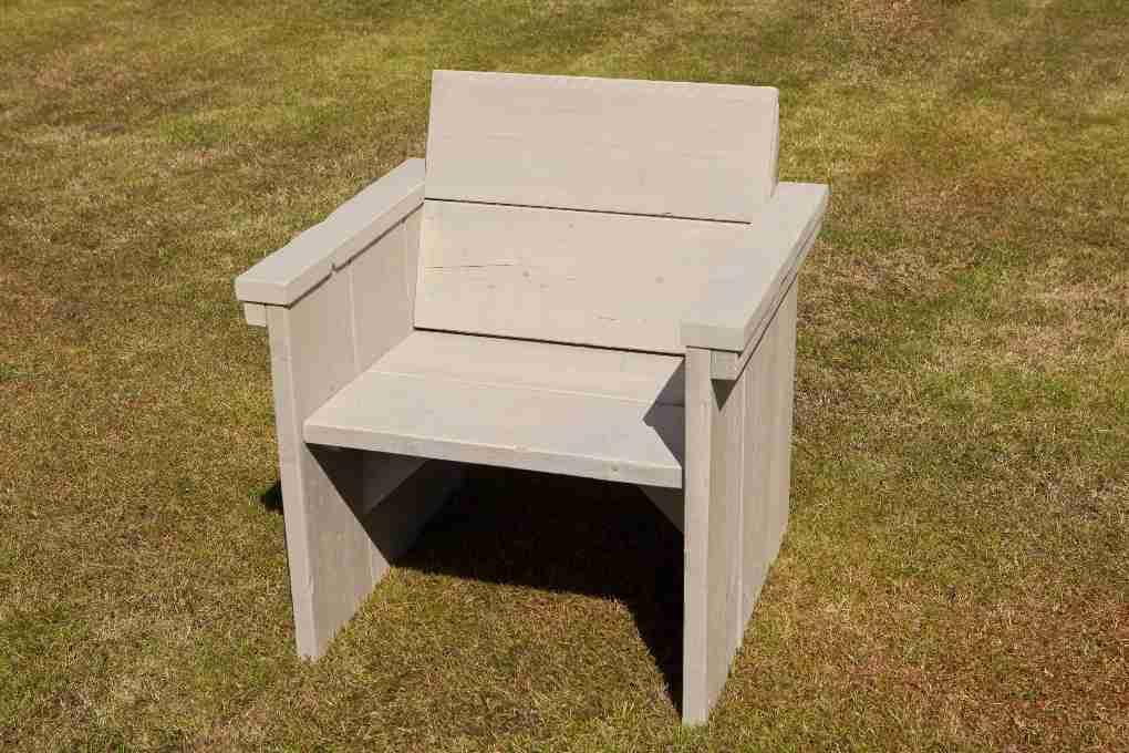 Steigerhout stoel maken